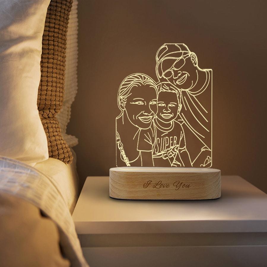 Lámpara De Fotos 3d Personalizada Gocomparador